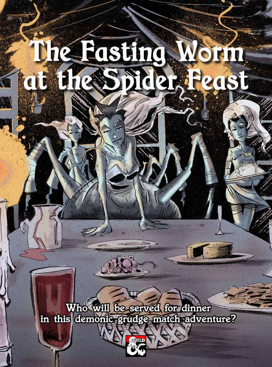 The Fasting Worm at the Spider Feast cover art.
