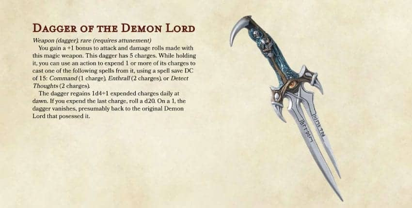D&D 5e Homebrew: Dagger of the Demon Lord - Dungeon Solvers
