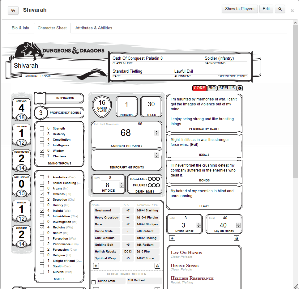 How To Use Roll20's Charactermancer Level Up - Dungeon Solvers
