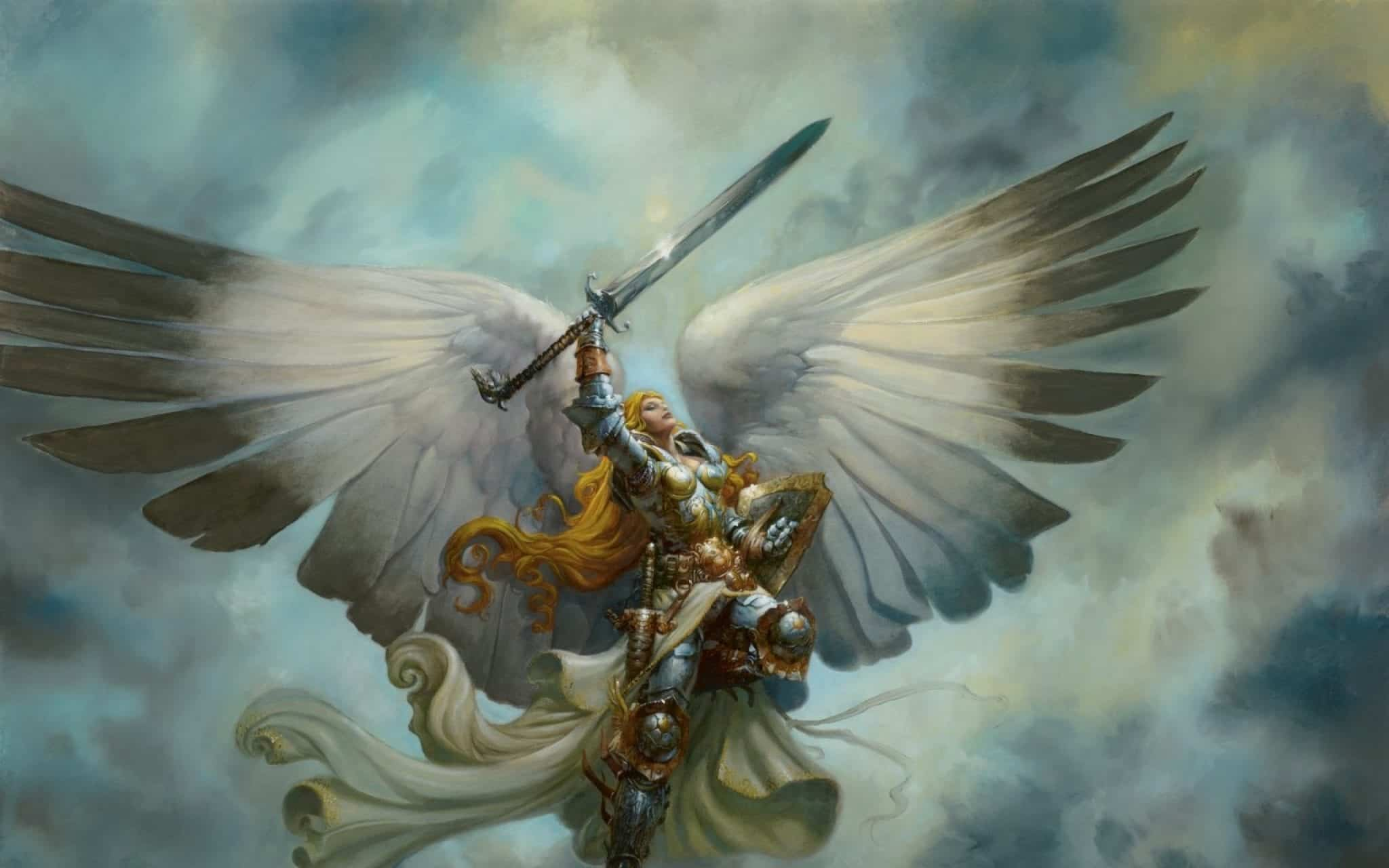 serra angel magic the gathering battleforce angel