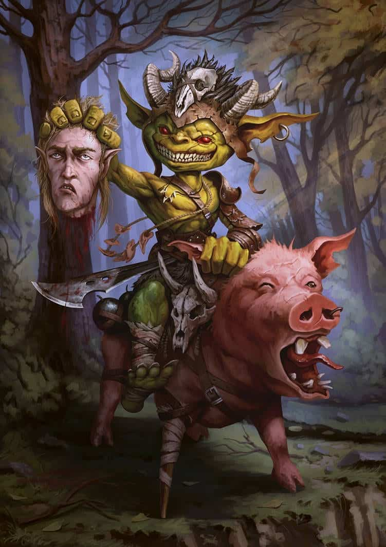 goblin pig rider Dungeons and Dragons 5th Edition