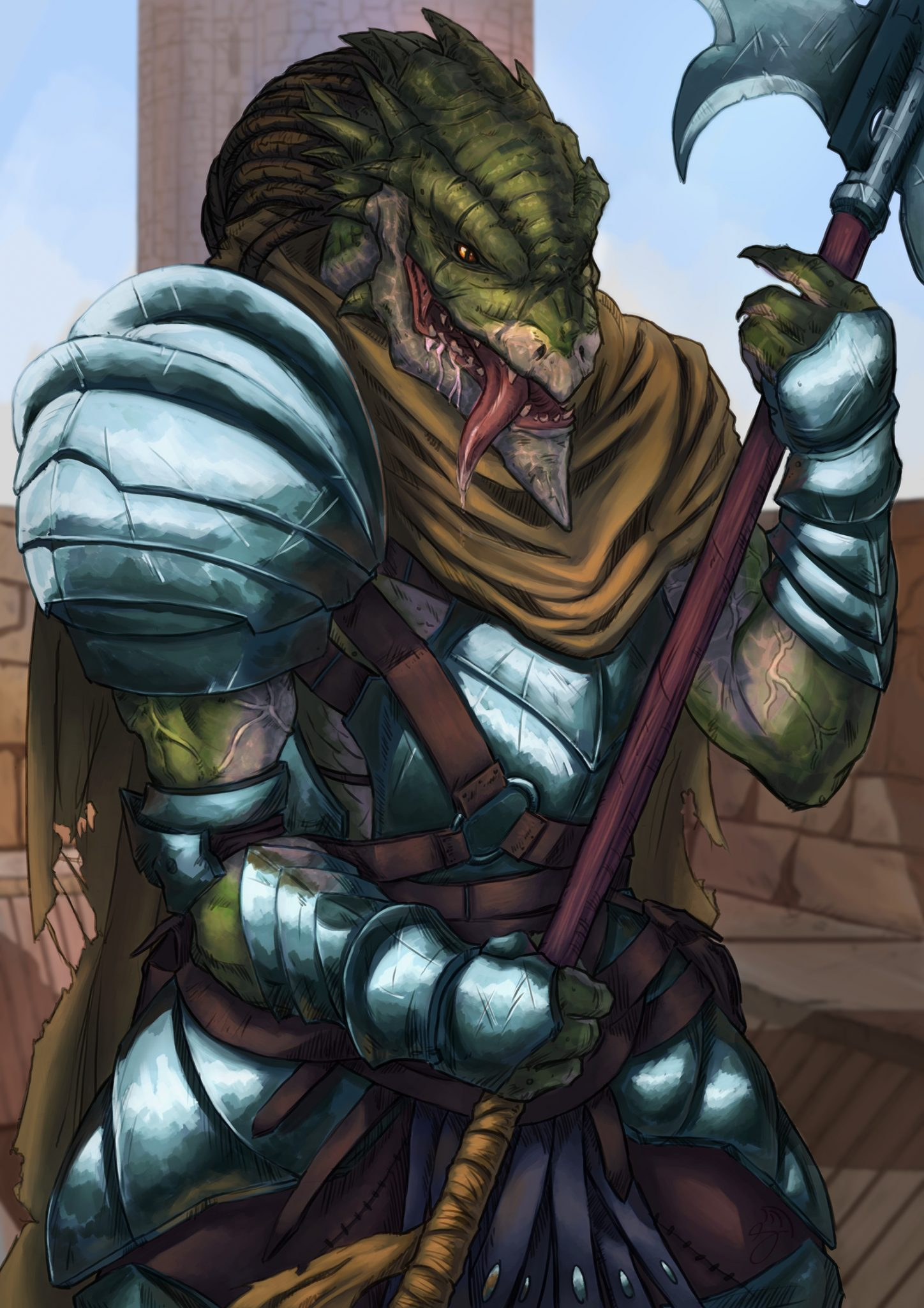 dragonborn great weapon master fighter