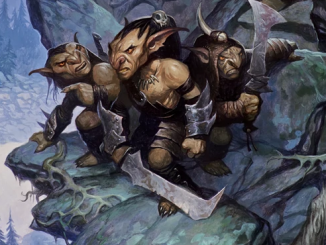 goblin boss leading a hunting party