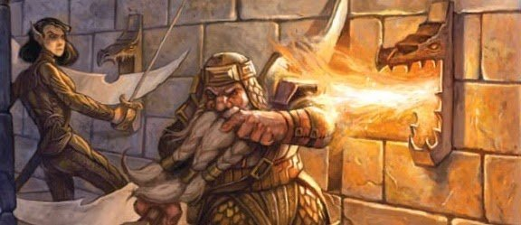 fire trap dwarf fighter roasted