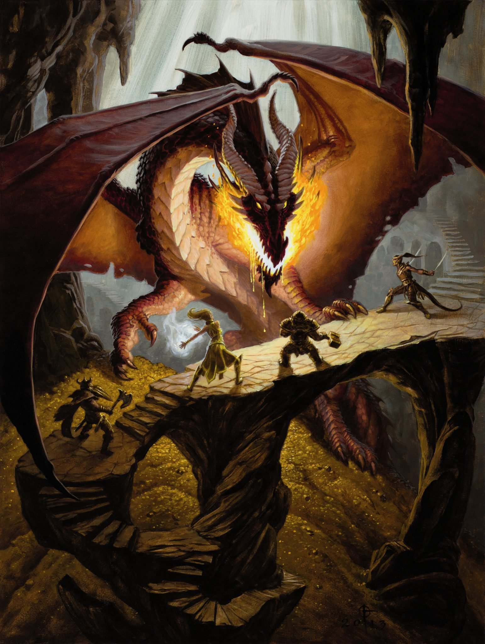 player's handbook red dragon fight
