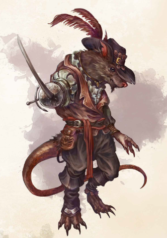 Okiti ringlearder artwork from Ultimate Bestiary: Revenge of the Horde