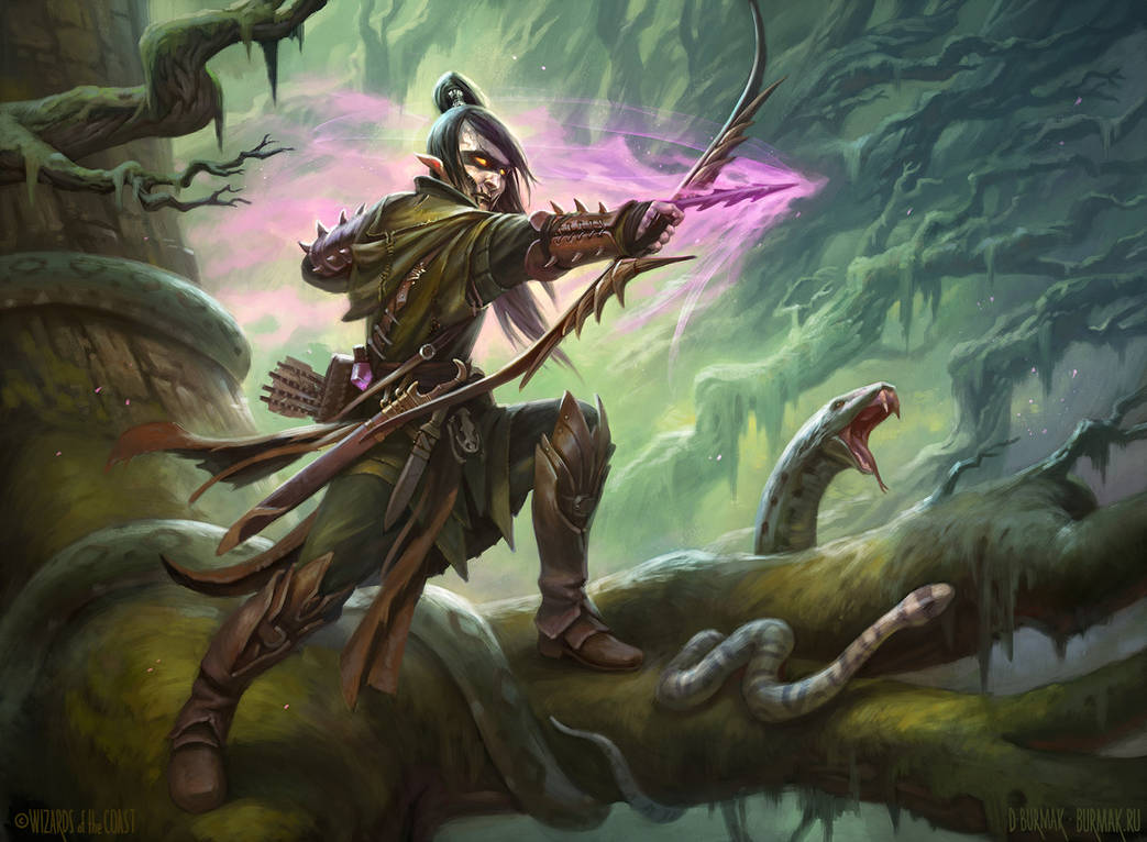 poison-tip archer artwork from magic the gathering