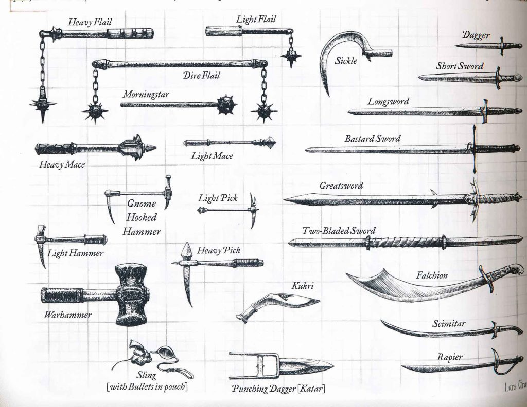 DnD 3.5e weapon artwork