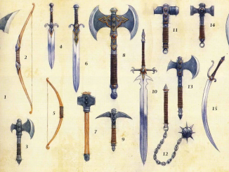 DnD 4e weapon artwork