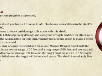 Captain America's Shield as a D&D 5e item