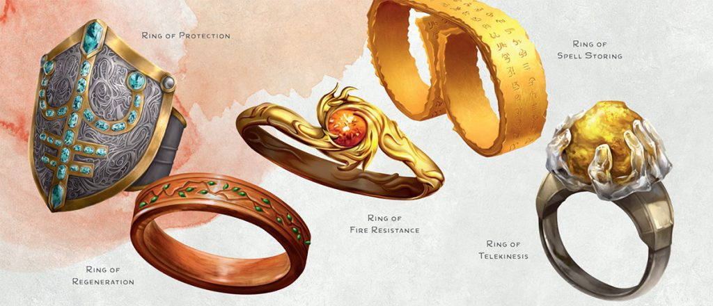 Dungeon Master's Guide magical rings art