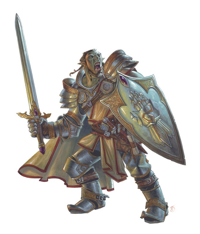 official PHB paladin art