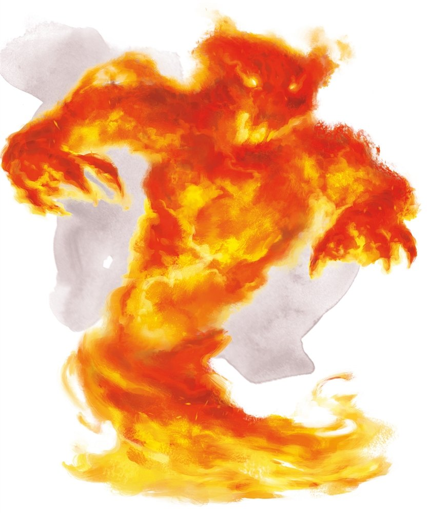 fire elemental artwork from the monster manual