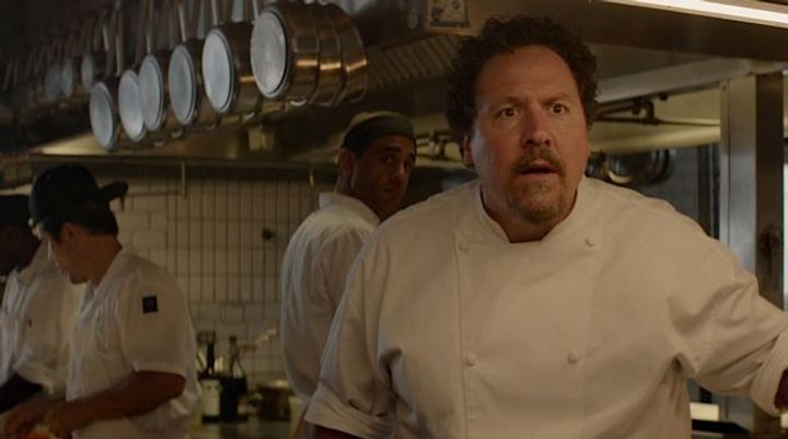 chef after discovering twitter. no seriously that's in the movie