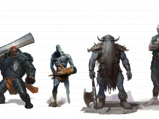D&D 5e creature size scale visualized with common PC races and giants