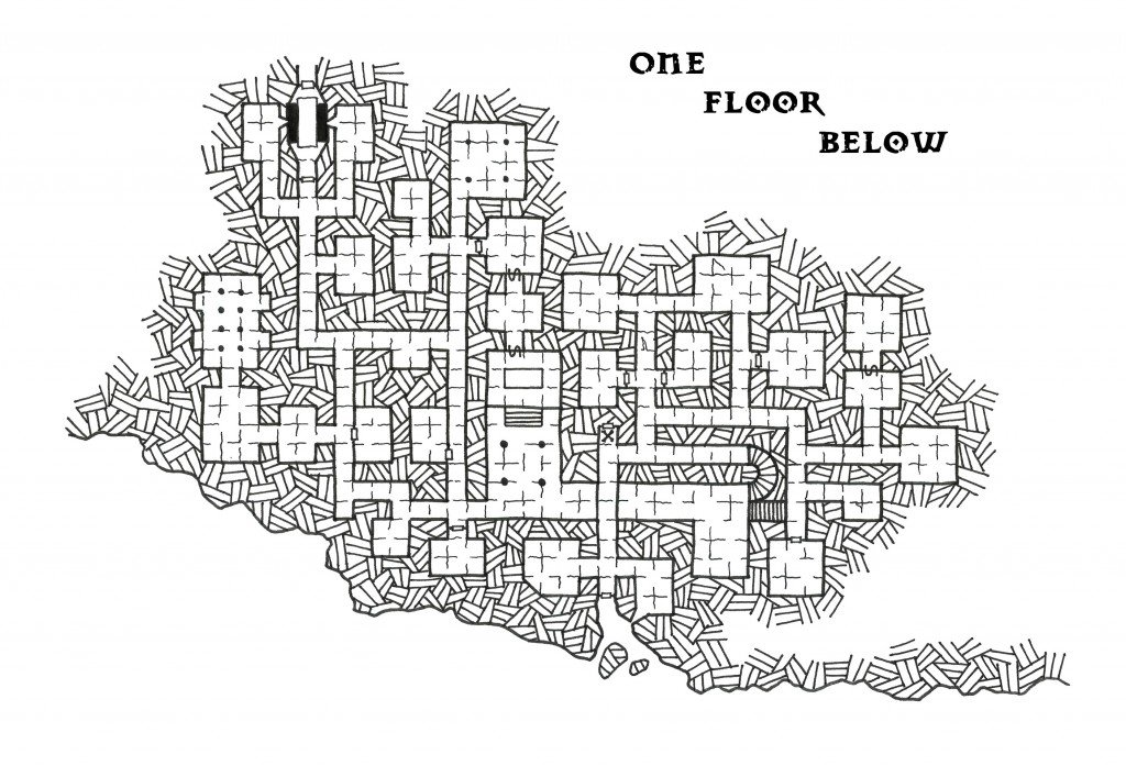 A large megadungeon with secret rooms