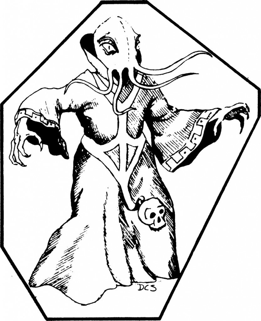 mind flayer from 1e looks absolutely goofy. It's got this big octopus head and is awkwardly posing with huge baggy robes that are like 3 sizes too big.