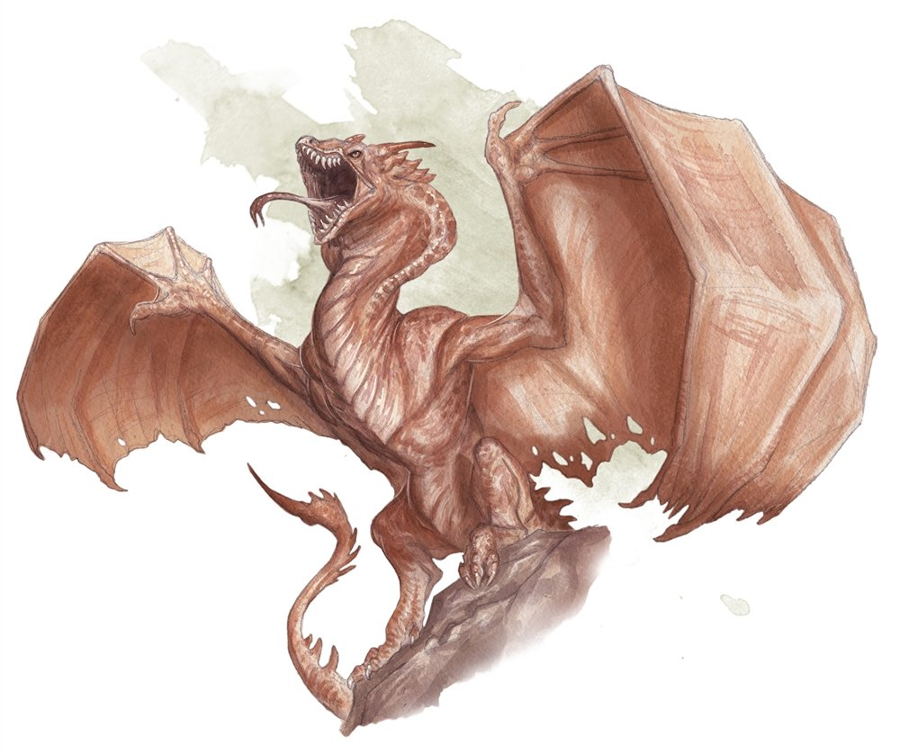 a pink wyvern stretching its wings and roaring