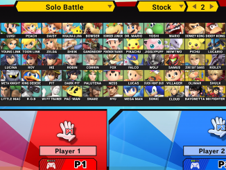 The character select screen from Super Smash Bros. Ultimate